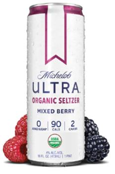 MICH ULTRA ORGANIC SELTZER MIXED BERRY