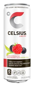 CELSIUS RASPBERRY ACAI GREEN TEA