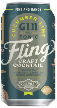 FLING CUCUMBER LIME GIN AND TONIC