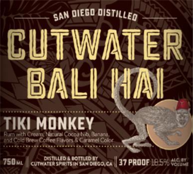 CUTWATER BALI HAI TIKI MONKEY