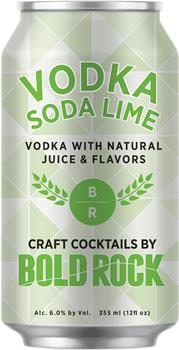 BOLD ROCK VODKA SODA LIME