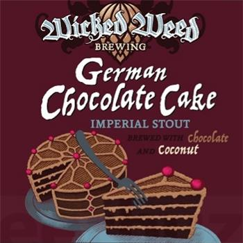 WICKED WEED GERMAN CHOCOLATE CAKE