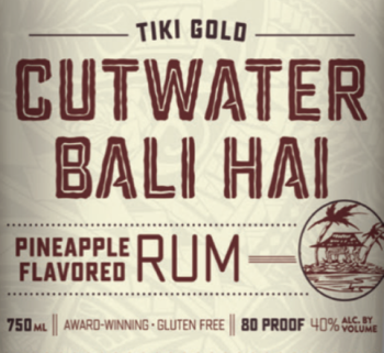 CUTWATER BALI HAI TIKI GOLD RUM