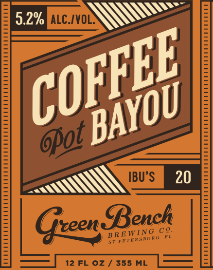 GREEN BENCH COFFEE POT BAYOU